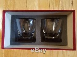 Moser Lancelot Double Old Fashioned Smoke Base Set of 2 withBox Dramatic Heavy