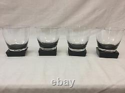 Moser Lancelot Double Old Fashioned Smoke Gray Set Of 4