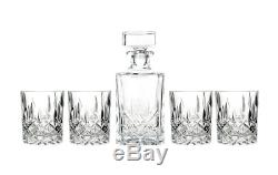 NEW Marquis by Waterford Decanter and Set of Four Double Old Fashioned Glasses