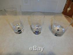 NEW Orrefors INTERMEZZO BLUE DOF Double Old Fashioned GLASSES LOT RARE Pitcher