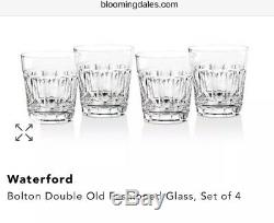 NEW Waterford Crystal Bolton Double Old-fashioned Glasses Set Of 4 New In Box