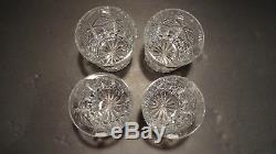NEW Waterford Crystal GRAINNE Set of 4 Double Old Fashioned 4 3/8