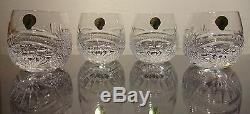 NEW Waterford Crystal SEAHORSE NOUVEAU (2017) 4 Double Old Fashioned 3 1/4 NIB