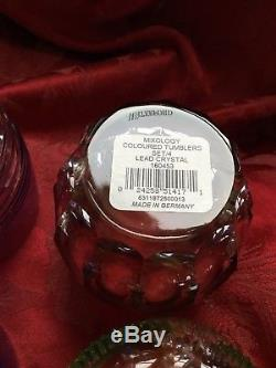 NIB FLAWLESS Stunning WATERFORD MIXOLOGY Crystal 4 DOUBLE OLD FASHIONED TUMBLERS
