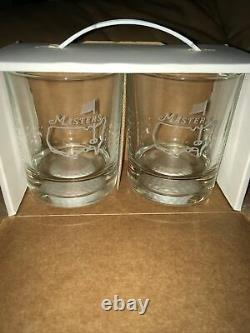 NIB Masters Golf Two 12 1/2 oz Fore Double Old Fashioned Glasses Golf New VTG