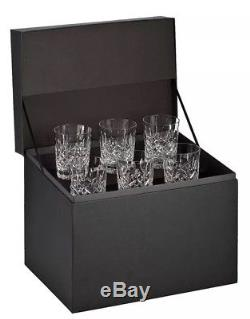 NIB Waterford Lismore Double Old Fashioned Glasses, Deluxe Gift Box Set of 6 DOF