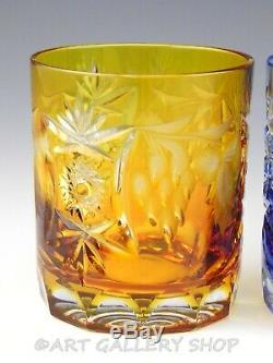 Nachtmann Traube Crystal Cut To Clear DOUBLE OLD FASHIONED GLASSES Set 8 Unused