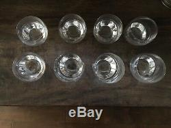 Nambe Tilt Double Old-Fashioned Glasses 8 -10oz