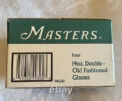New MASTERS GLASS SET OF 4 AUGUSTA NATIONAL Double Old Fashioned Glasses
