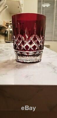 New Waterford Crystal Lismore Red Double Old Fashioned Glass