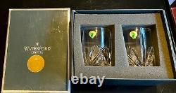 New in Box Set of 2 Waterford Crystal Double Old Fashioned Glasses with Sticker