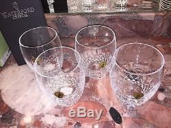 Nwt $270 Waterford Crystal Lismore Essence Double Old Fashioned Glasses Set of 4