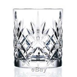 ORIGINAL 6-piece Double Old Fashioned Crystal Glasses Set By Lorenzo Melodia