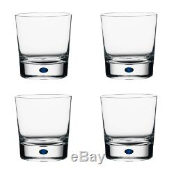 Orrefors Crystal Intermezzo Blue Double Old Fashioned Glass (Set of Four)