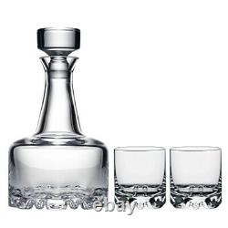 Orrefors Erik 3 Piece Set, Decanter and 2 Double Old Fashioned Glasses, One si