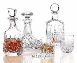 PAIR Waterford LISMORE DOF DOUBLE OLD FASHIONED 12 OZ Crystal NEW