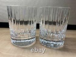 Pair Of Baccarat HARMONIE 4-1/8 Double Old Fashioned Crystal Tumblers