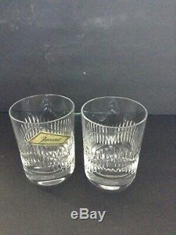 Pair Of Baccarat Serpentine Double Old Fashioned Whiskey Tumblers