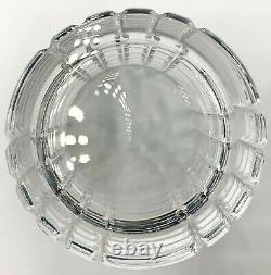 Pair Of Tiffany & Co Crystal Plaid Double Old Fashioned Glasses, Excellent Cond