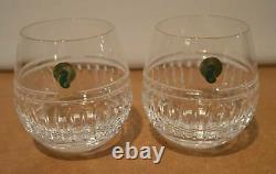 Pair Of Waterford Crystal Double Old Fashioned Rolly Polly Cocktail Glasses NEW