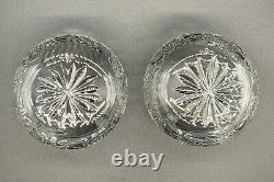 Pair Of Waterford Crystal Rare Seahorse Pattern Double Old Fashioned Euc