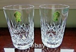 Pair Of Waterford Lismore Double Old Fashioned/ Rocks/ High Ball Glasses-nwob