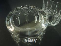 Pair Waterford Crystal Double Old Fashioned Westport Whisky Tumblers Glasses