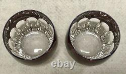 Pair Waterford Crystal Mixology TALON RUBY RED Tumbler Double Old Fashioned Mint