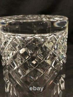 Pair Waterford Lead Crystal Ciara Double Old Fashioned Glasses Made in Ireland