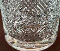 RALPH LAUREN ARGYLE Double Old Fashioned Rocks Whiskey Glass Lion Crest 6-PC Set