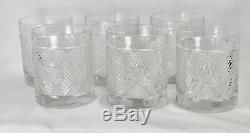 Ralph Lauren 6 Glasses Safari Double Old Fashioned Tumblers Lowball Lion Crest