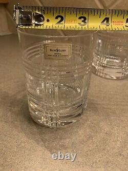 Ralph Lauren Crystal Glen Plaid Classic Double Old Fashioned Glass