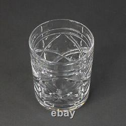Ralph Lauren Cut Crystal Brogan Double Old Fashioned Whiskey Glasses Set Of 4