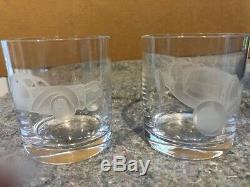 Ralph Lauren Double Old Fashioned Crystal Glasses