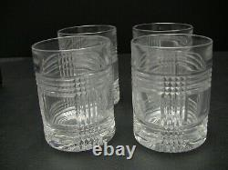 Ralph Lauren GLEN PLAID Double Old Fashioned Glasses / Set of 4 / New