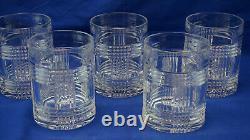 Ralph Lauren Glen Plaid (5) Double Old Fashioned Glasses, 4 1/8