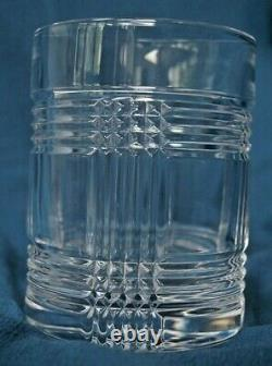 Ralph Lauren Glen Plaid Crystal Double Old Fashioned/Whiskey Glasses (4)