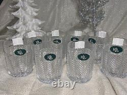 Ralph Lauren Herringbone Double Old Fashioned Set of 8 NEW 11.1 oz From Germany