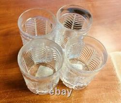 Ralph Lauren Herringbone Double Old Fashioned Whiskey Glasses Set of 4 NEW
