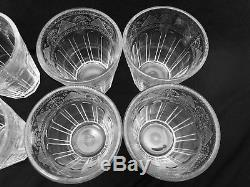 Rare Ralph Lauren Crystal Emma Set of 8 Double Old Fashioned Vintage Glass