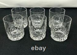 Rock Cut by Tiffany Co Double Old Fashioned Glasses Crystal Whiskey Glass 6 qty