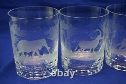 Rowland Ward Big Game (6) Double Old Fashioned Glasses, 4