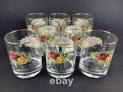 Royal Albert Old Country Roses Set of EIGHT 4 1/8 Double Old Fashioned Glasses