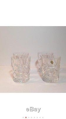 SET OF 4 Ralph Lauren CRYSTAL GLASSES DOUBLE OLD FASHIONED $400 NEW