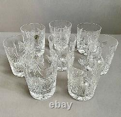 SET Of 8 WATERFORD CRYSTAL MILLENNIUM 5 TOAST DOUBLE OLD FASHIONED GLASSES