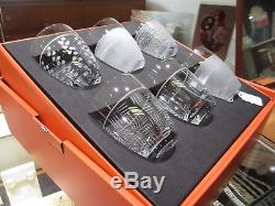 Salviati Venezia NEW Double Old Fashioned Glasses Set of 6 Assorted Patterns Box