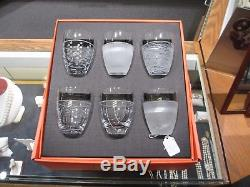 Salviati Venezia NEW Fine Crystal Double Old Fashioned Glasses Set of 6 in Box