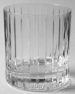 Sasaki Crystal Ellessee Double Old Fashioned Glasses Set of 4