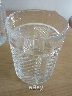 Set 10 Ralph Lauren Herringbone Dbl Double Old fashioned Hi Ball crystal glasses