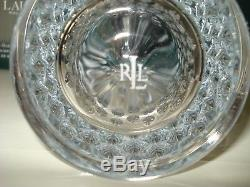 Set 16 RALPH LAUREN Aston CRYSTAL GLASSES Double Old Fashioned Highball-NEW